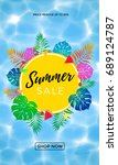 summer sale discount promo... | Shutterstock .eps vector #689124787