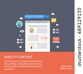 quality content  content... | Shutterstock .eps vector #689129155