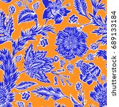 seamless pattern with fantasy... | Shutterstock .eps vector #689133184