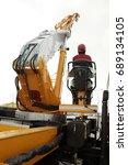 crane operator  | Shutterstock . vector #689134105