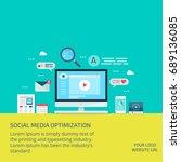 seo copywriting  seo content ... | Shutterstock .eps vector #689136085