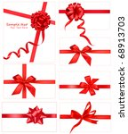 big collection of red gift bows.... | Shutterstock . vector #68913703