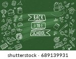 concept of education. school... | Shutterstock .eps vector #689139931
