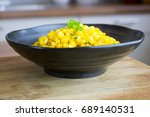 photograph of a bowl of cooked... | Shutterstock . vector #689140531