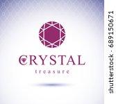 vector shining gemstone design... | Shutterstock .eps vector #689150671