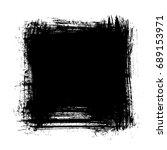vector grunge square background | Shutterstock .eps vector #689153971