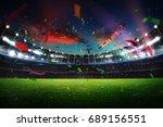 empty night grand stadium with... | Shutterstock . vector #689156551