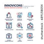 device service   modern vector... | Shutterstock .eps vector #689158054