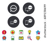 byod icons. notebook and... | Shutterstock .eps vector #689158699
