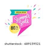summer sale   modern vector... | Shutterstock .eps vector #689159521