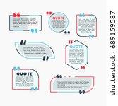 quote bubbles   modern vector... | Shutterstock .eps vector #689159587