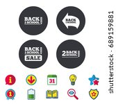 back to school sale icons.... | Shutterstock .eps vector #689159881