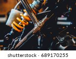 closeup of structure metal... | Shutterstock . vector #689170255