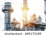 oil and gas refinery  industry | Shutterstock . vector #689173189