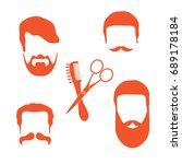 cute vector illustration of men ... | Shutterstock .eps vector #689178184