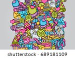 birthday cartoon doodle design. ... | Shutterstock .eps vector #689181109