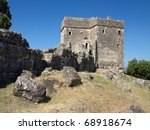 Small photo of tower of Ragio in the Lygia peninsula, Igoumenitsa - Greece