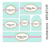 hand drawn floral elements for... | Shutterstock . vector #689187139