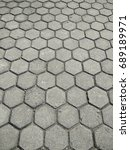 paving pattern perspective | Shutterstock . vector #689189971