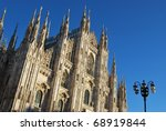 The Duomo, gothic cathedral of Milan, Lombardy, Italy - stock photo