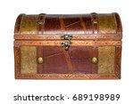 old wooden chest | Shutterstock . vector #689198989