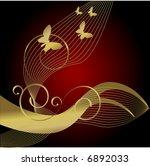 winter gold butterfly  ...   Shutterstock .eps vector #6892033