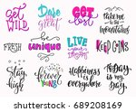 summer lettering  t shirt quote ... | Shutterstock .eps vector #689208169
