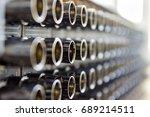 telecommunication video... | Shutterstock . vector #689214511