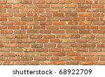 Weathered Red Brick Wall...