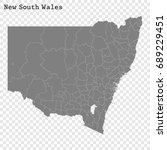 high quality map of new south... | Shutterstock .eps vector #689229451