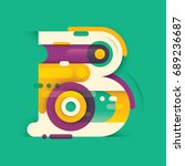 abstract b letter design  made... | Shutterstock .eps vector #689236687