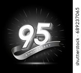 95 years silver anniversary...   Shutterstock .eps vector #689237065