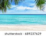 view of beautiful tropical... | Shutterstock . vector #689237629