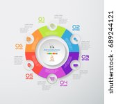 vector infographic of round... | Shutterstock .eps vector #689244121