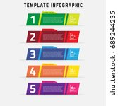 template infographic simple and ... | Shutterstock .eps vector #689244235