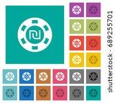 new shekel casino chip multi... | Shutterstock .eps vector #689255701