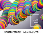 vector background. multicolor... | Shutterstock .eps vector #689261095