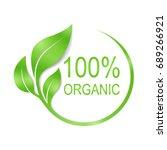 100  organic vector logo design | Shutterstock .eps vector #689266921