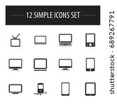 set of 12 editable devices...