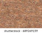 red brick wall texture seamless ...   Shutterstock . vector #689269159