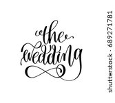 the wedding black and white... | Shutterstock . vector #689271781
