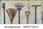 Set Of Agricultural Equipment...