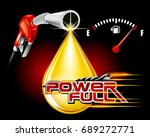 gas pump nozzles with drop oil... | Shutterstock .eps vector #689272771