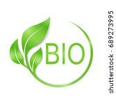 bio vector logo design. | Shutterstock .eps vector #689273995