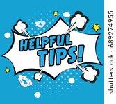 helpful tips pop art   Shutterstock .eps vector #689274955