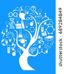 education and technology tree | Shutterstock .eps vector #689284849