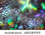 abstract water drops on... | Shutterstock . vector #689289595