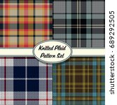 vector knitted plaid tartan... | Shutterstock .eps vector #689292505