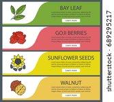 spices web banner templates set.... | Shutterstock .eps vector #689295217