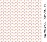 vector seamless vintage pattern | Shutterstock .eps vector #689295844